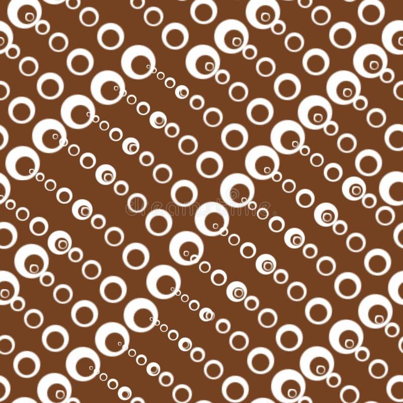 Bezszwowe tekstury z okręgami różni rozmiary ilustracja wektor