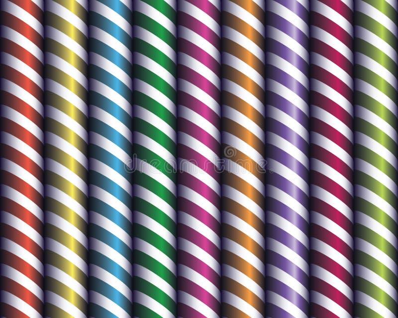 Bezszwowe tubki jaskrawy wystrój, biały tasiemkowy inter ilustracja wektor
