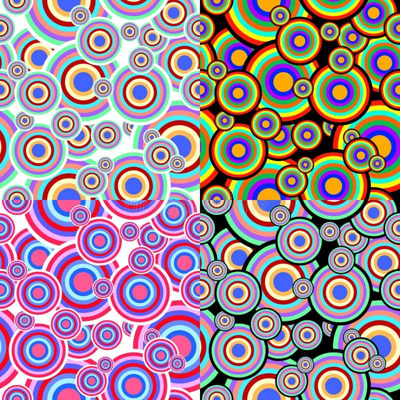 bezszwowe ustalone tekstury ilustracji