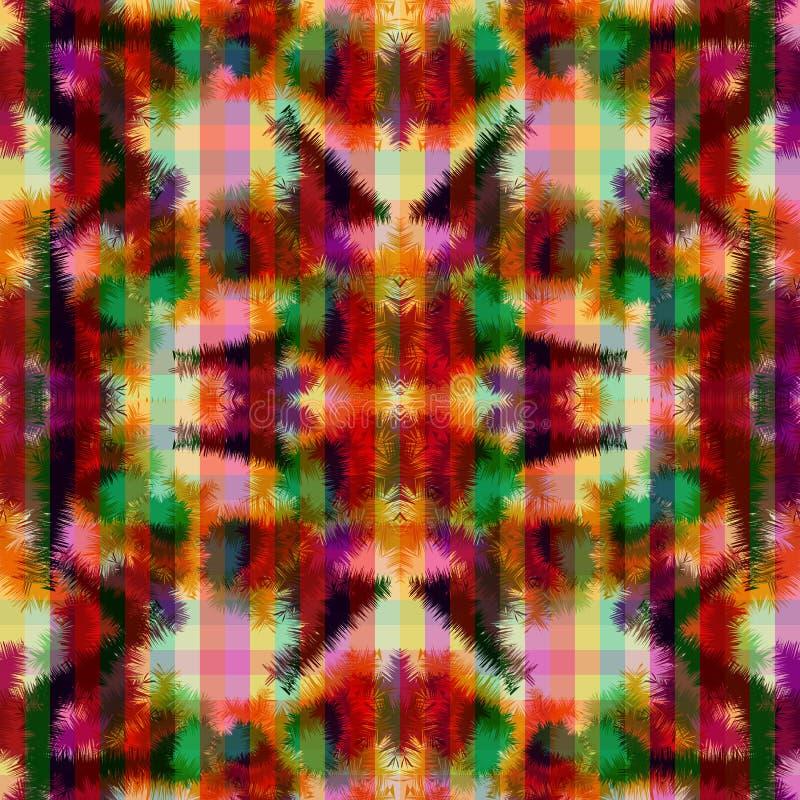 Bezszwowego deseniowego hipisa krawata barwidła abstrakcjonistyczny rorschach royalty ilustracja