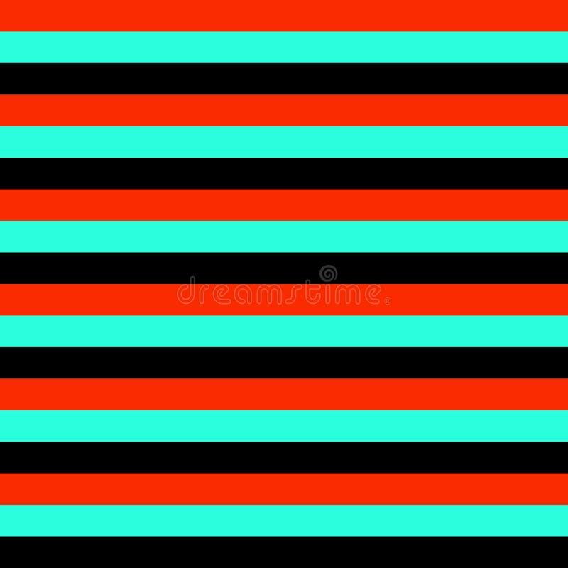 Bezszwowego geometrycznego lampas linii tła projekta deseniowego wektorowego kolorowego horyzontalnego rocznika abstrakcjonistycz royalty ilustracja