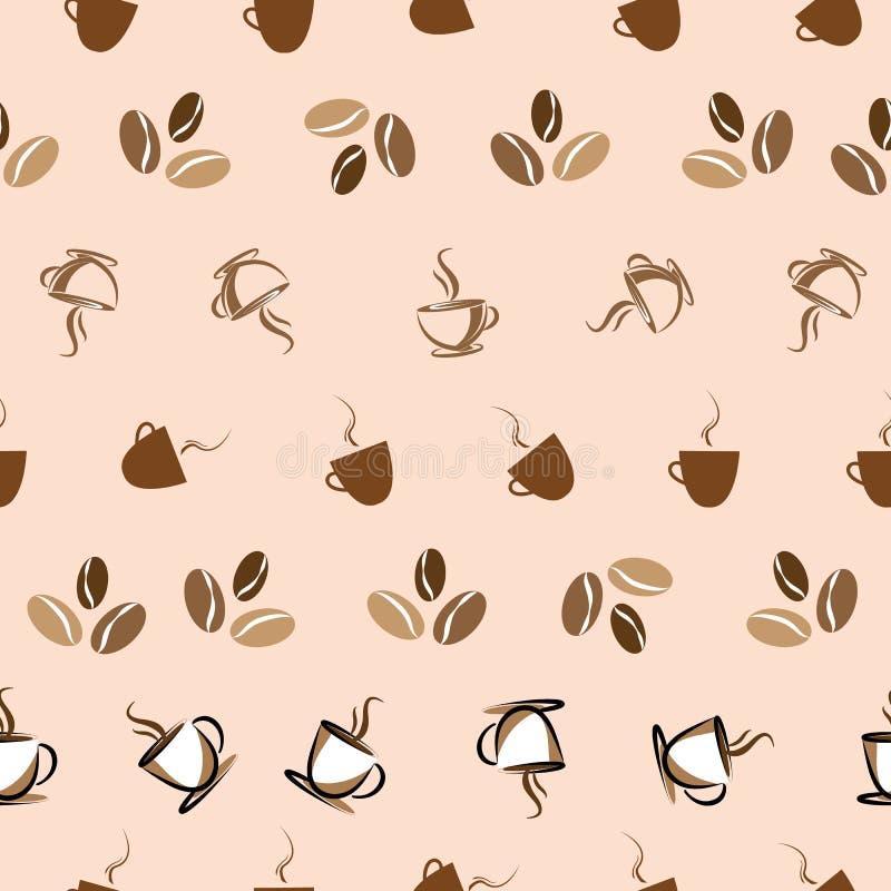 Bezszwowego Kawowego tło projekta ilustracyjny druk ilustracji