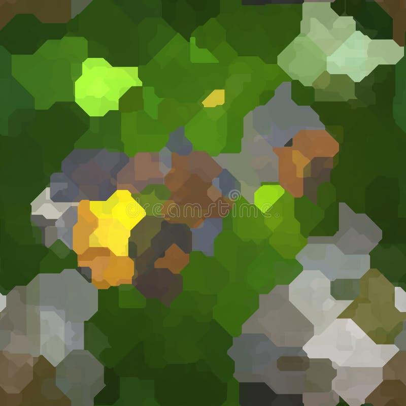 Bezszwowego koloru abstrakcjonistycznego wibrującego tła kolorowi szczotkarscy uderzenia artysta royalty ilustracja