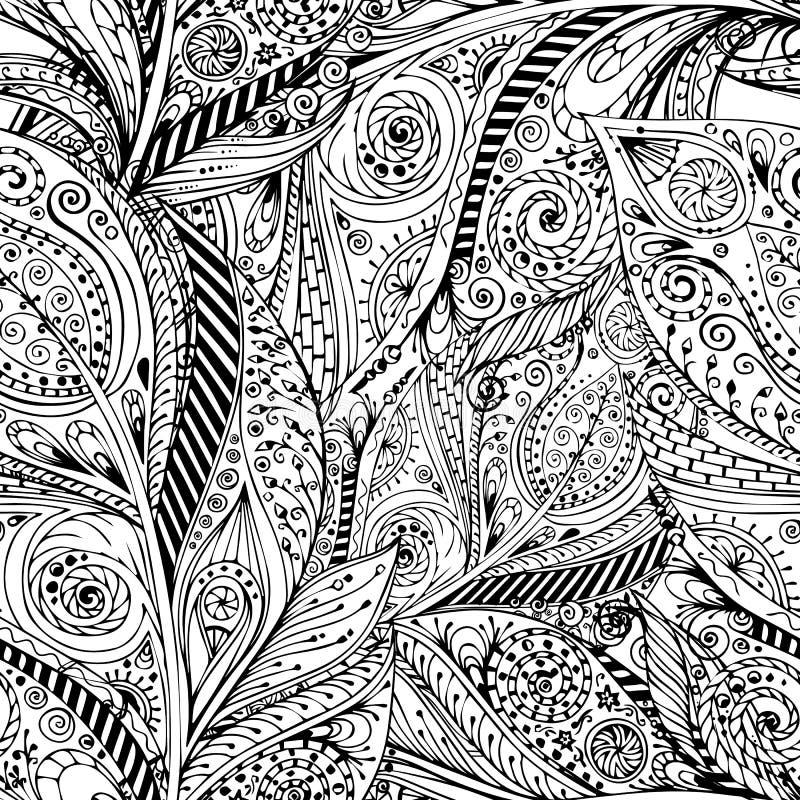 Bezszwowego kwiatu retro tło w wektorze ilustracja wektor
