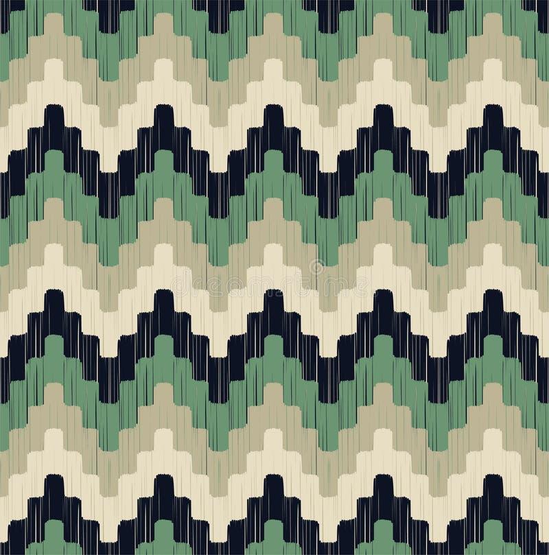 Bezszwowego piksla zygzag geometryczny wzór Tekstura szewronu linii taflować ilustracji
