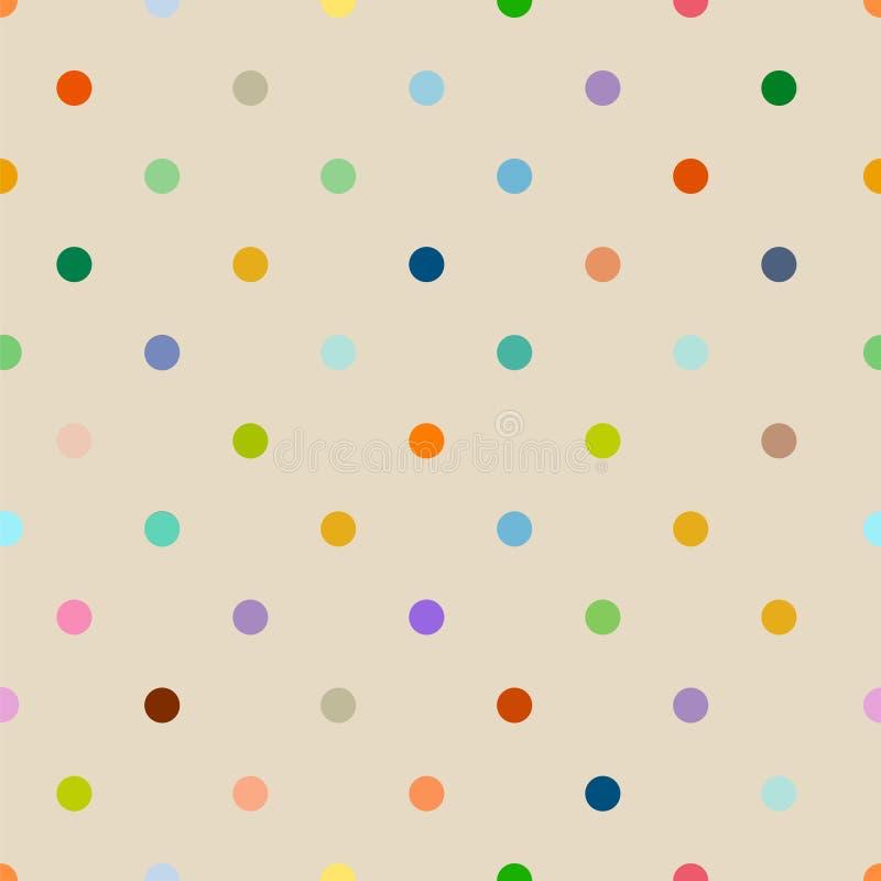 Bezszwowego polki kropki tła wzoru czysty styl, wektorowy illust ilustracji