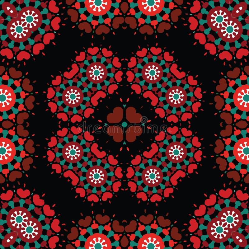 Download Bezszwowego Retro Kalejdoskopu Tła Wielostrzałowy Wzór Ilustracji - Ilustracja złożonej z grafika, kolorowy: 28955388