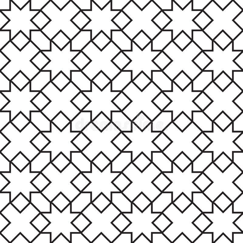 Bezszwowego rocznika geometryczny wzór royalty ilustracja