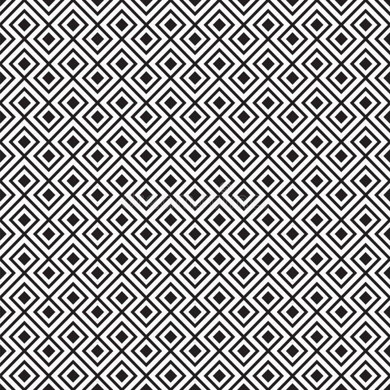 Bezszwowego rocznika linii płytki geometryczny wzór royalty ilustracja