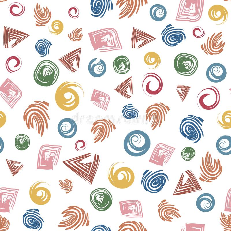 Bezszwowego tła abstrakta geometryczni kształty ilustracja wektor