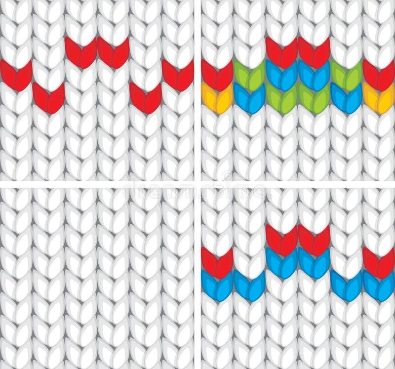 Bezszwowego wzoru trykotowa tekstura ilustracja wektor