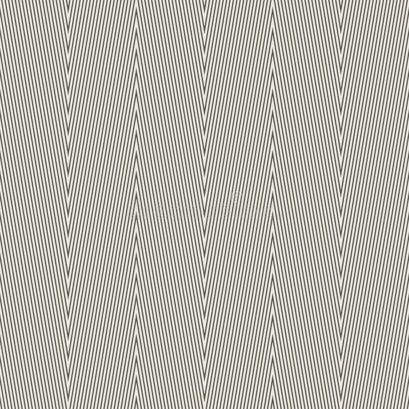 Bezszwowego zygzakowatego szewronu geometryczny wzór ilustracja wektor