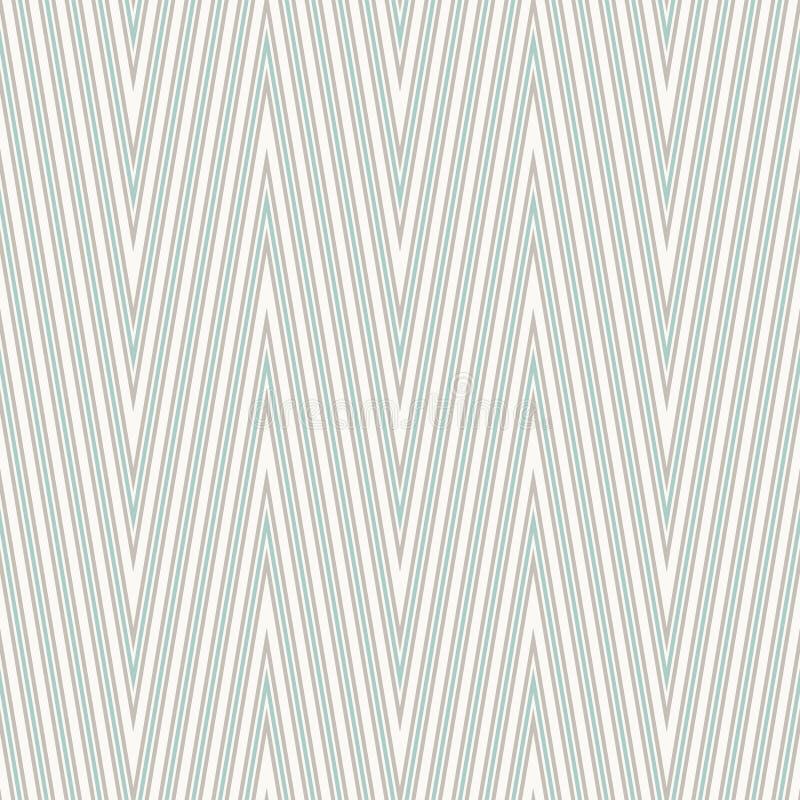 Bezszwowego zygzakowatego szewronu geometryczny wzór ilustracji