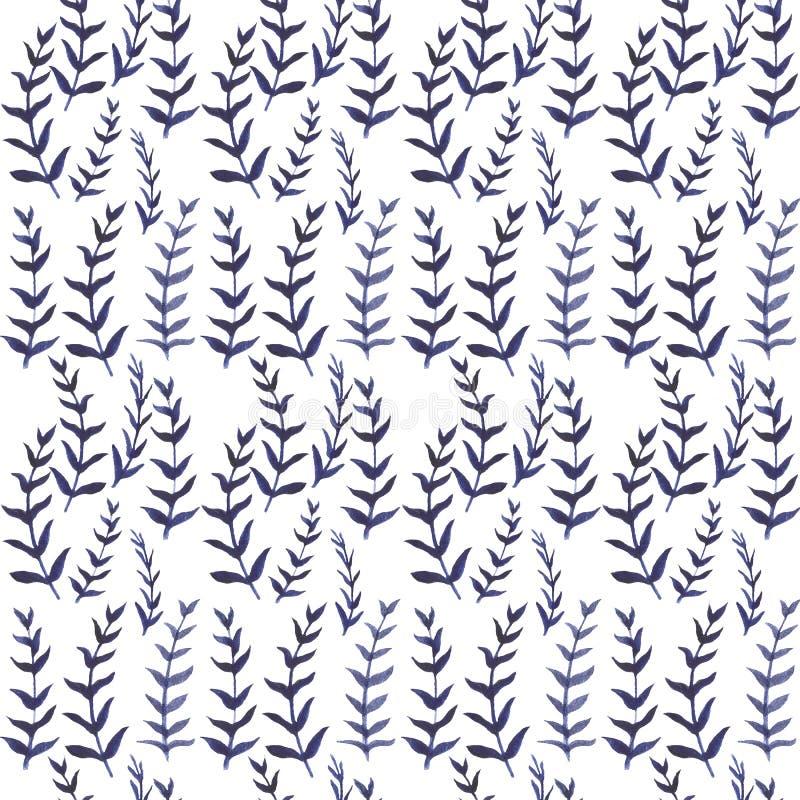 Bezszwowej akwareli kwiecisty wzór Ręka rysująca akwarela ilustracji