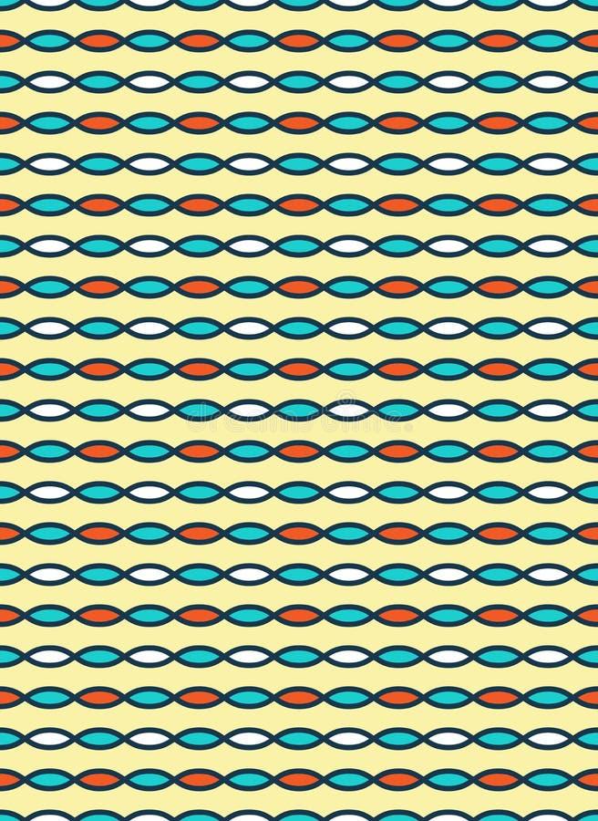 Bezszwowej jaskrawej zabawy abstrakta horyzontalny wzór odizolowywający dalej wrzeszczy ilustracji