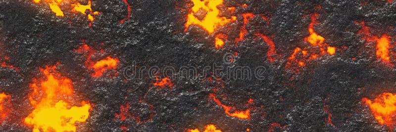 Bezszwowej magmy wielka kartoteka Niszczy stopionego rzadkopłynnego metal royalty ilustracja
