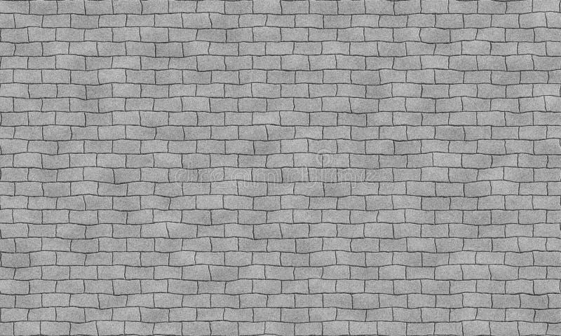 Bezszwowej popielatej ściany z cegieł płytki sprawnie wzór Nierówny kształt Dla wnętrza, powierzchowność odpłaca się materialny k ilustracja wektor