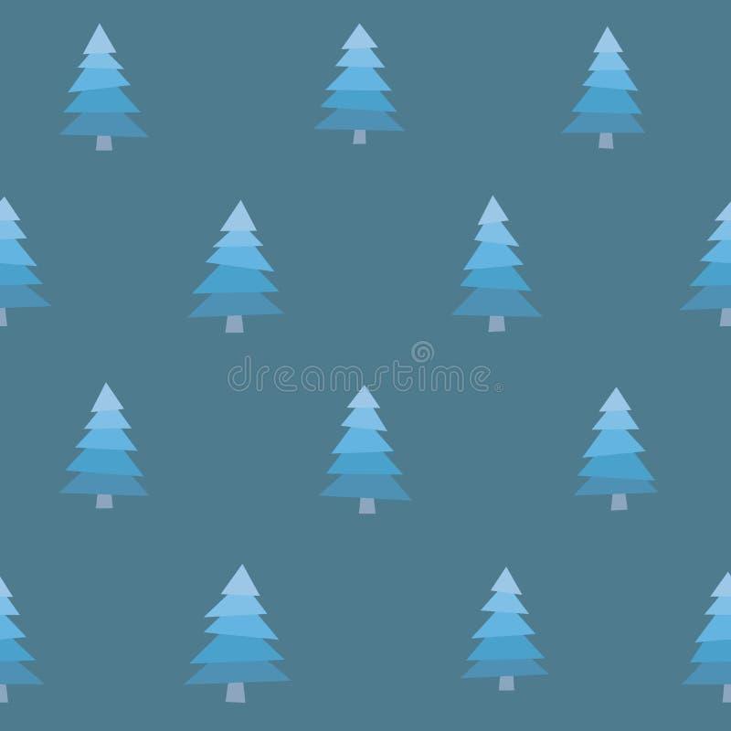 Bezszwowi Śnieżni drzewa royalty ilustracja