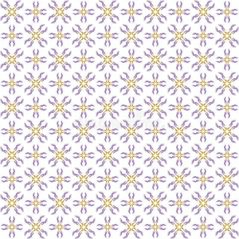 Bezszwowi abstrakcjonistyczni błękitni pomarańczowi tekstury fractal wzory royalty ilustracja