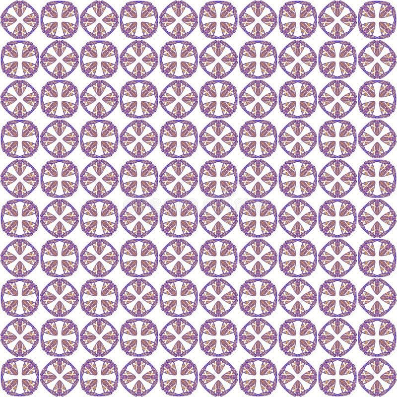 Bezszwowi abstrakcjonistyczni błękitni pomarańczowi tekstury fractal wzory ilustracja wektor