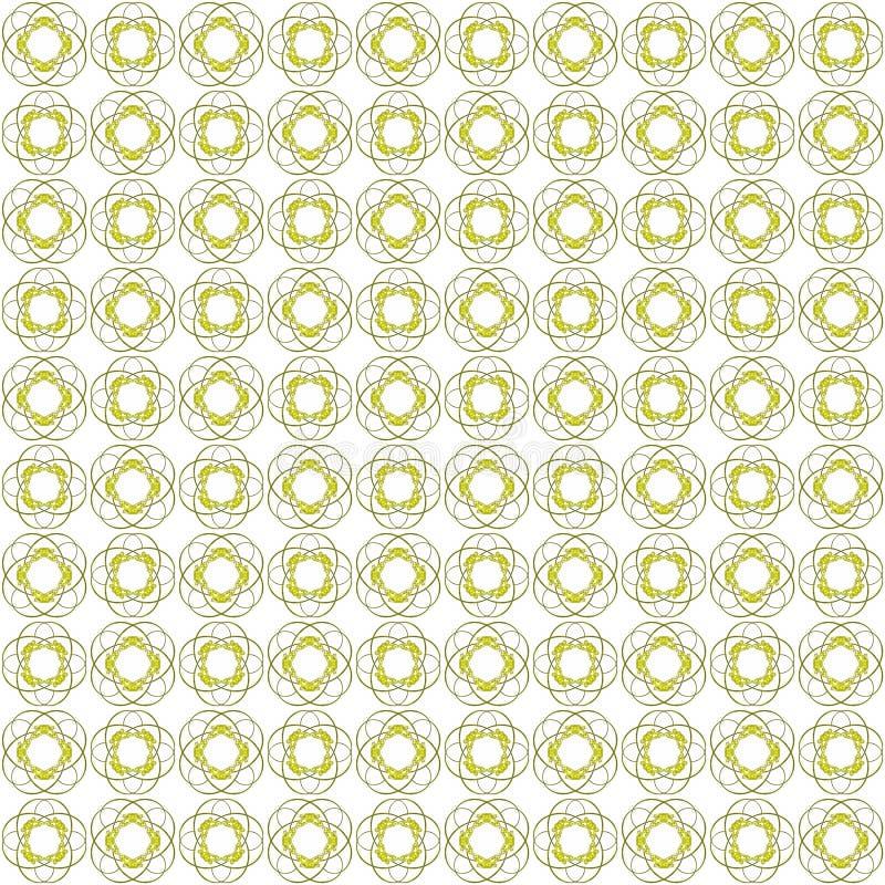 Bezszwowi abstrakcjonistyczni czarni żółci tekstury fractal wzory ilustracja wektor