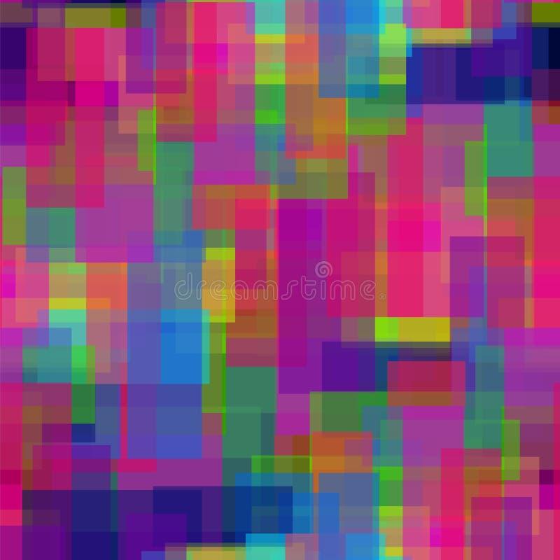 Bezszwowi abstrakcjonistyczni kolorów kwadraty 3 ilustracja wektor