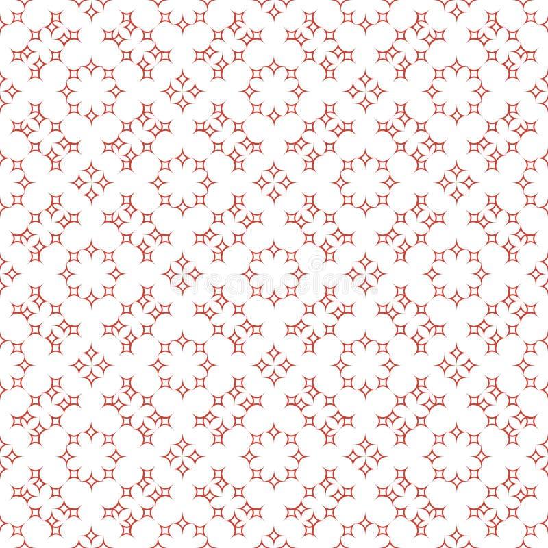 Bezszwowi abstrakcjonistyczni kwieciści wzory Geometrical rocznika ornament ilustracja wektor