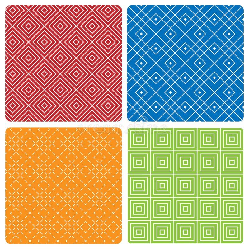 bezszwowi abstraktów wzory cztery royalty ilustracja