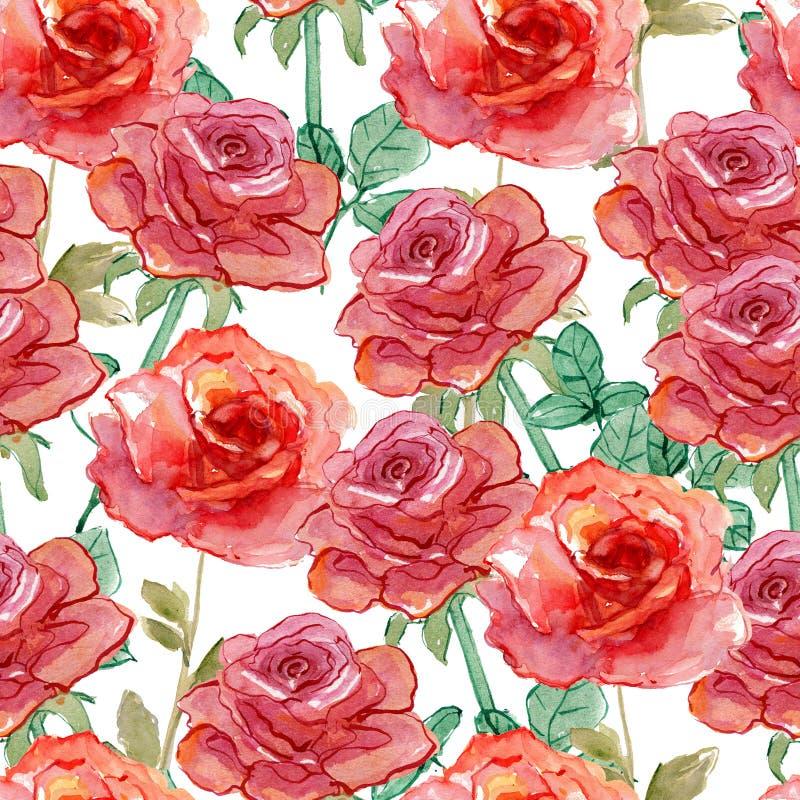 Róża wzór ilustracja wektor