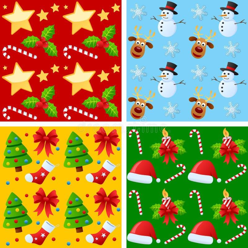 bezszwowi Boże Narodzenie wzory royalty ilustracja