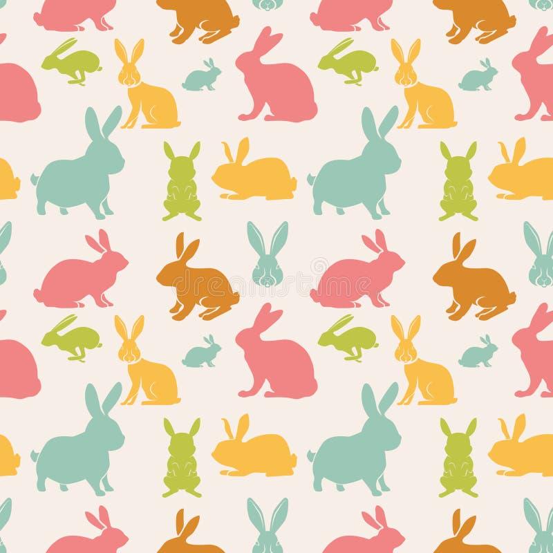 bezszwowi deseniowi króliki ilustracja wektor