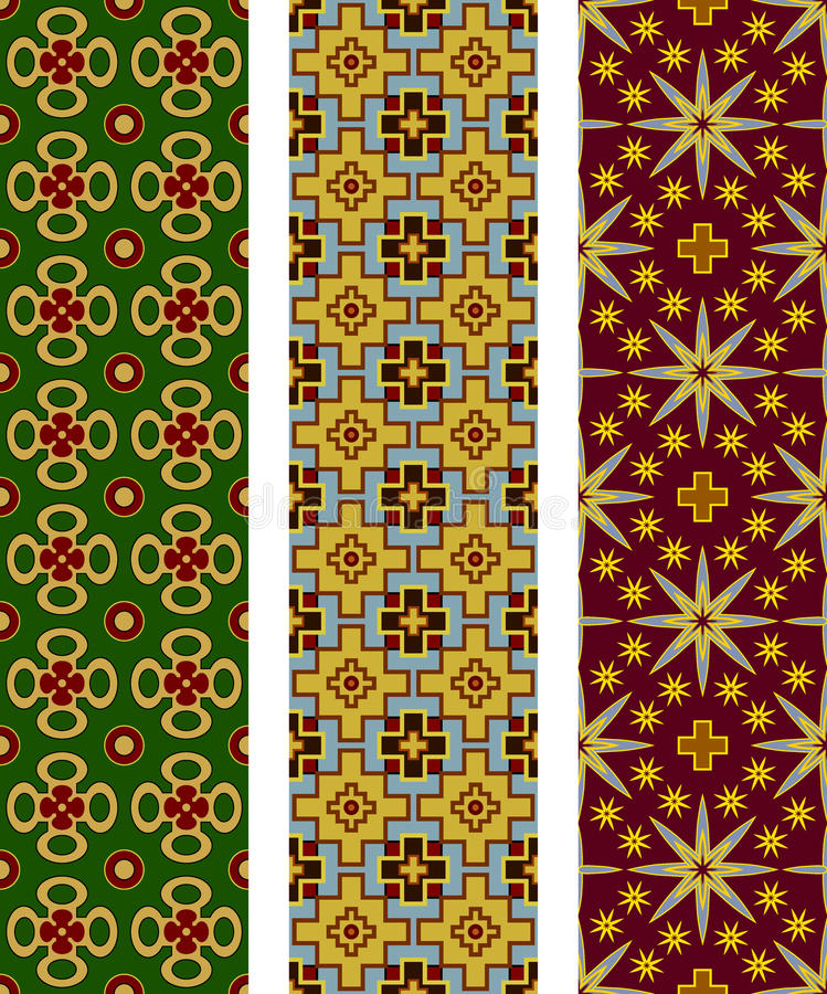 bezszwowi geometryczni wzory royalty ilustracja