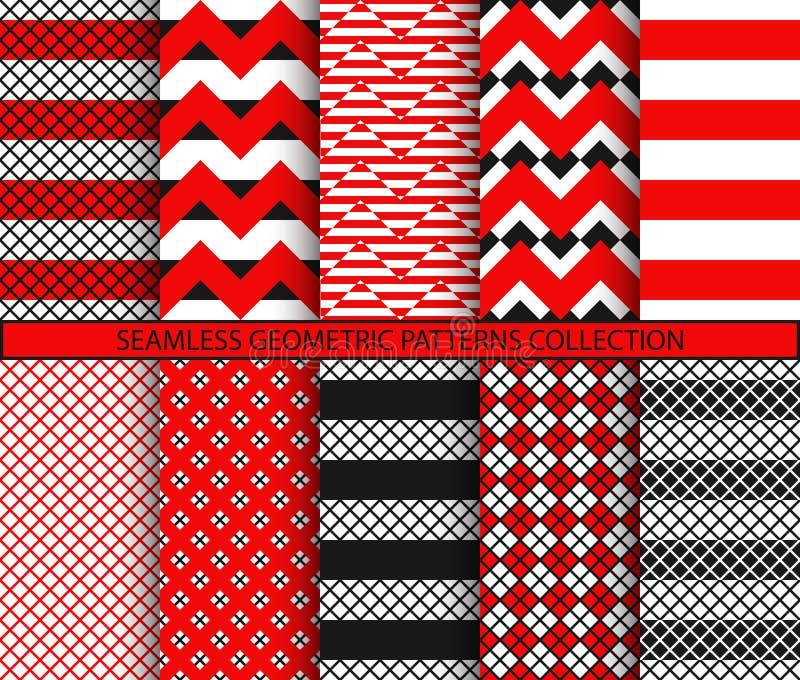 Bezszwowi geometryczni wzory inkasowi royalty ilustracja