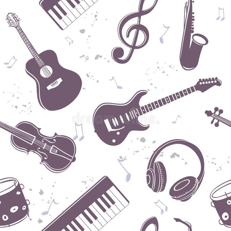 Bezszwowi instrumenty muzyczni ilustracji