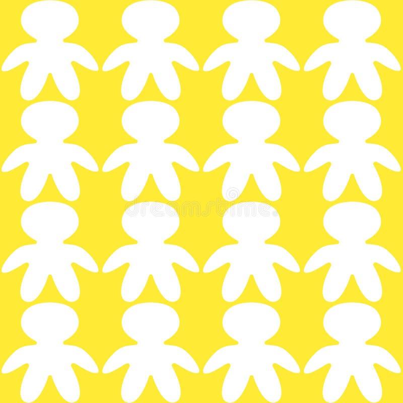 Bezszwowi kolorowi dzieci trzyma ręki royalty ilustracja