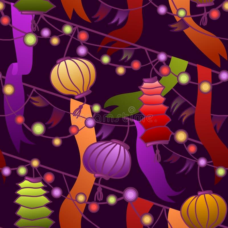 Bezszwowi kolorowi karnawałów światła ilustracja wektor