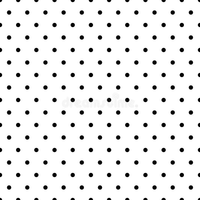 Bezszwowi okręgi, kropka wzór Płynnie powtarzalna polki kropka ilustracja wektor