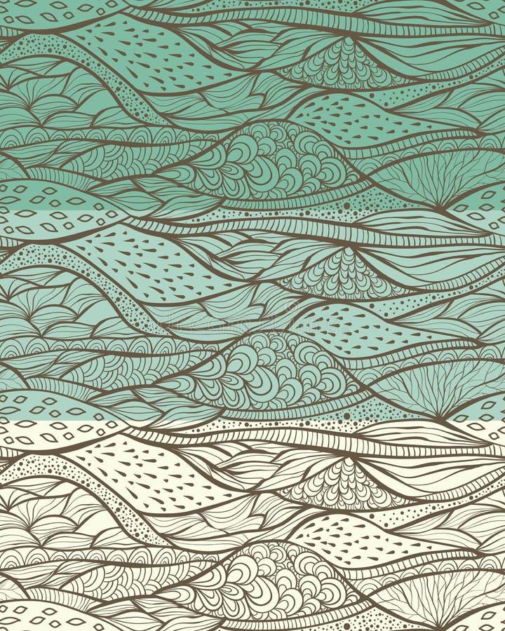 Download Bezszwowi Ostrzy wzory ilustracja wektor. Ilustracja złożonej z ornament - 28950753