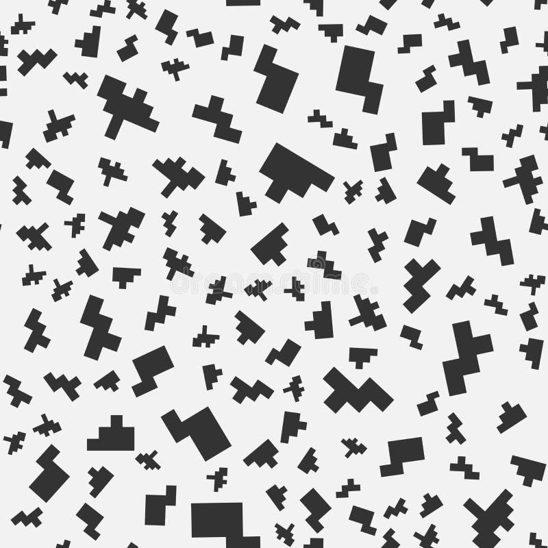 Bezszwowi piksel sztuki elementy projekt ilustracja wektor