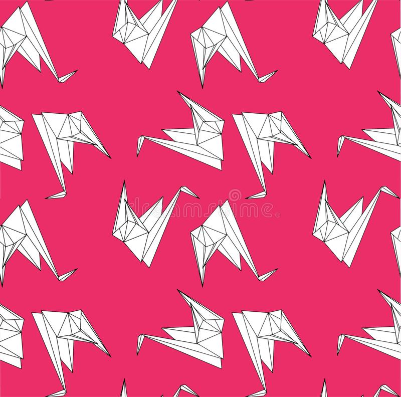 Bezszwowi powtórka papieru żurawie royalty ilustracja