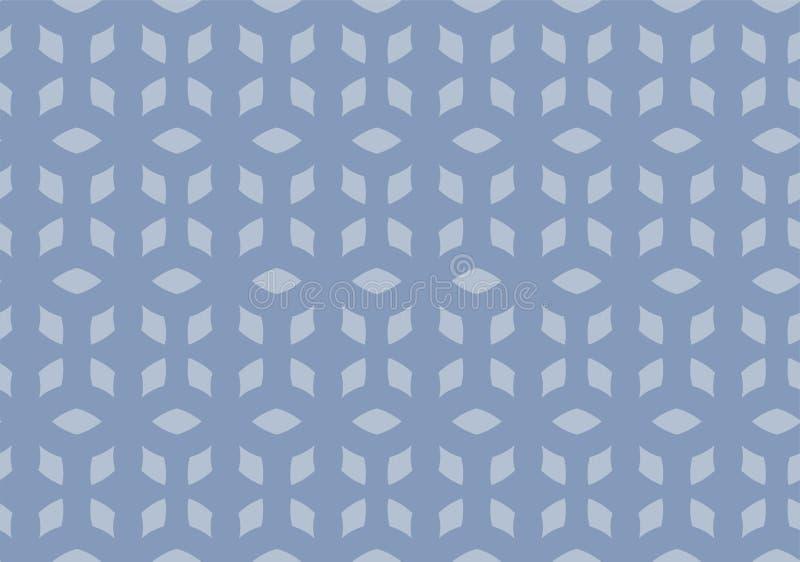 Bezszwowi powtórki zimy diamenty ilustracja wektor