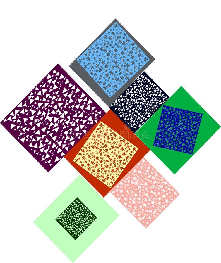 Bezszwowi projekta kwadrata wzory zdjęcia royalty free