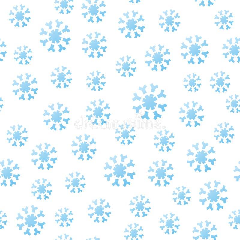 Bezszwowi Spadać Płatek śniegu ilustracja wektor