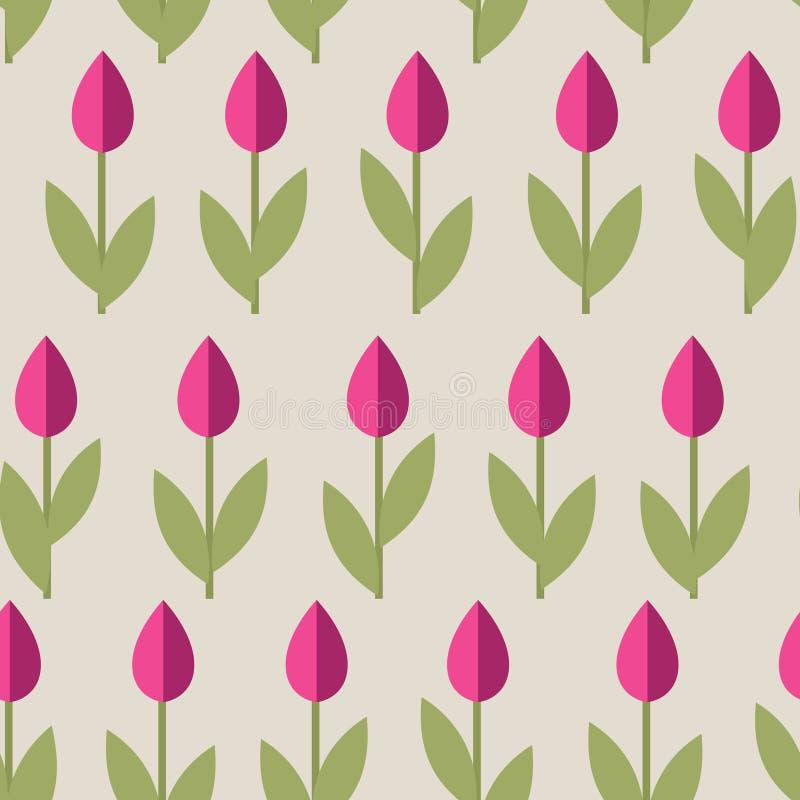 bezszwowi tło tulipany royalty ilustracja