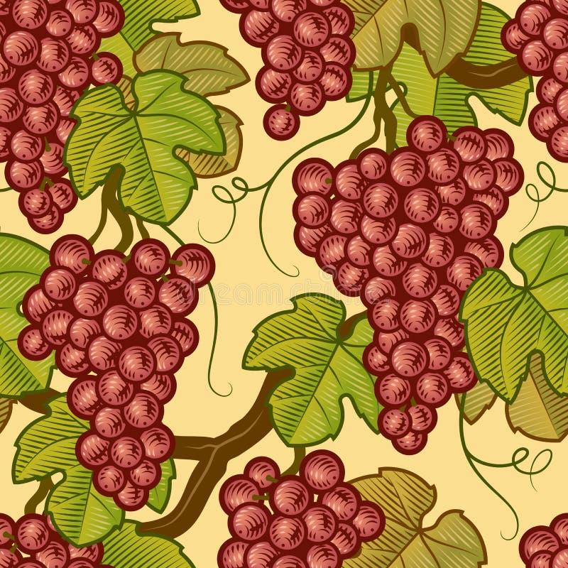 bezszwowi tło winogrona ilustracja wektor