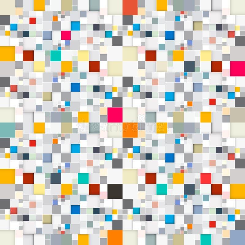 Download Bezszwowi tło kwadraty ilustracja wektor. Ilustracja złożonej z cegła - 57654123