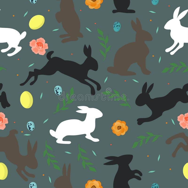 Bezszwowi tekstury Easter elementy ilustracji