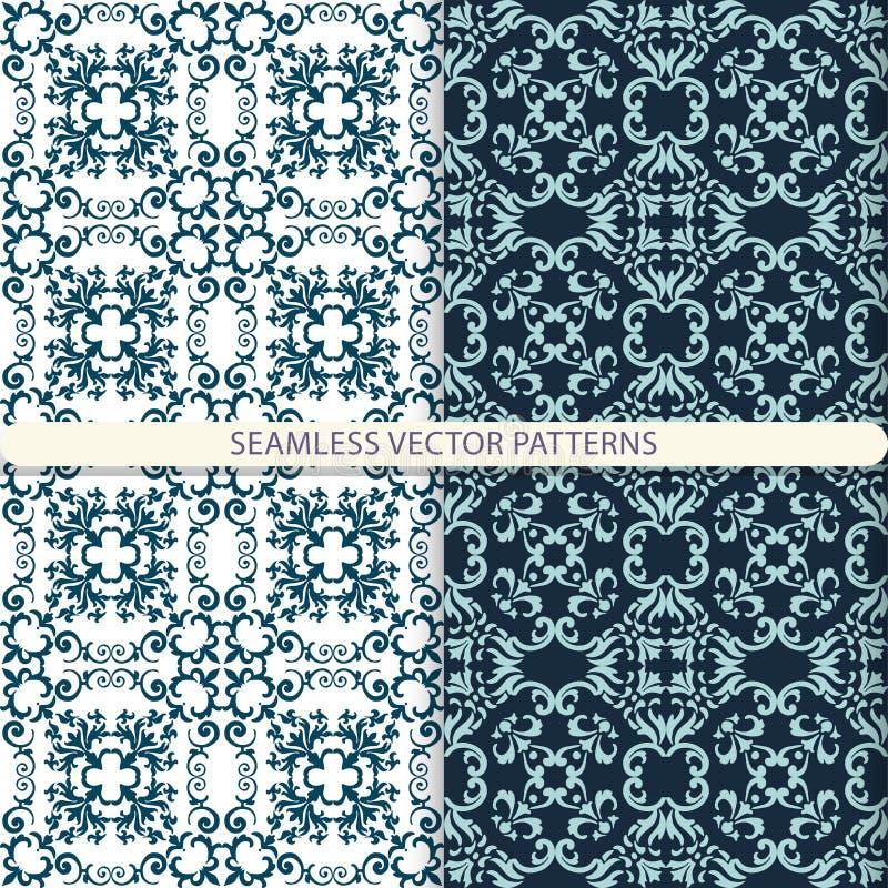 Bezszwowi wektorów wzory z ornamentów elementami i elementami kwiecistymi i botanicznymi Druk dla tkanin Projekt dla pakować i wr ilustracja wektor
