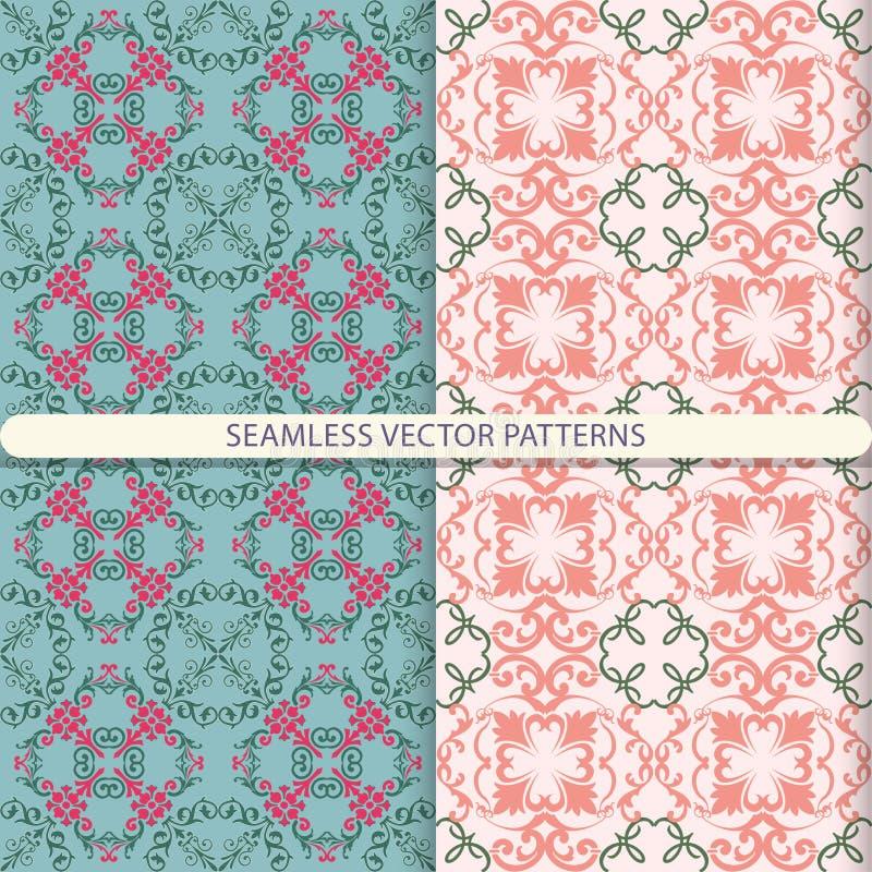 Bezszwowi wektorów wzory z ornamentów elementami i elementami kwiecistymi i botanicznymi Druk dla tkanin Projekt dla pakować i wr royalty ilustracja