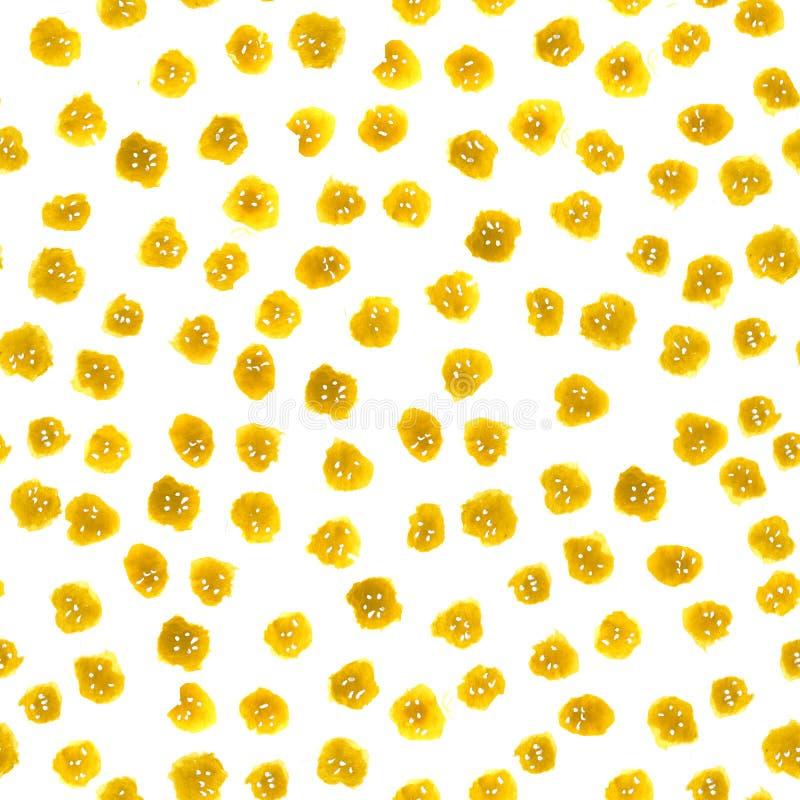 Bezszwowi wzory od akwareli plam i biały tło z przypadkowymi elementami Kropkowany abstrakta wzór dla projekta ilustracji
